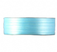 Light Blue Double Faced Satin Ribbon. 3mm x 50meters Per Reel